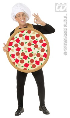 ROUND PIZZA COSTUME - ADULT SIZE
