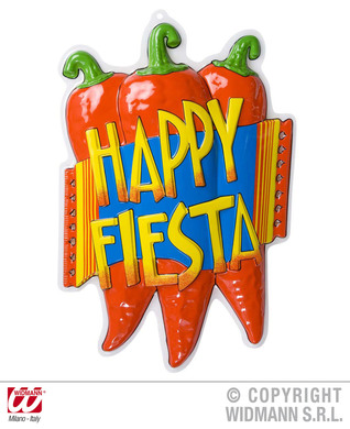 3D HAPPY FIESTA CHILLI PEPPER DEC 36x51cm
