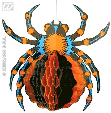 JUMBO NEON H/COMB SPIDER 52CM
