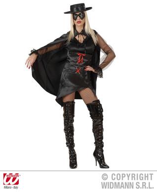 LA BANDIDA COSTUME (dress corset cape eyemask)