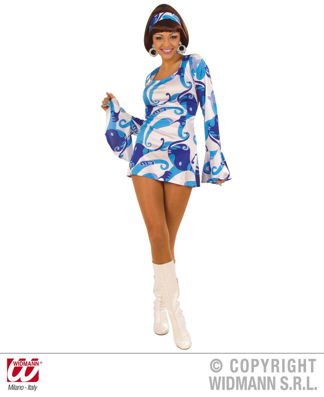Ladies 70s Chick - Blue Costume Fancy Dress