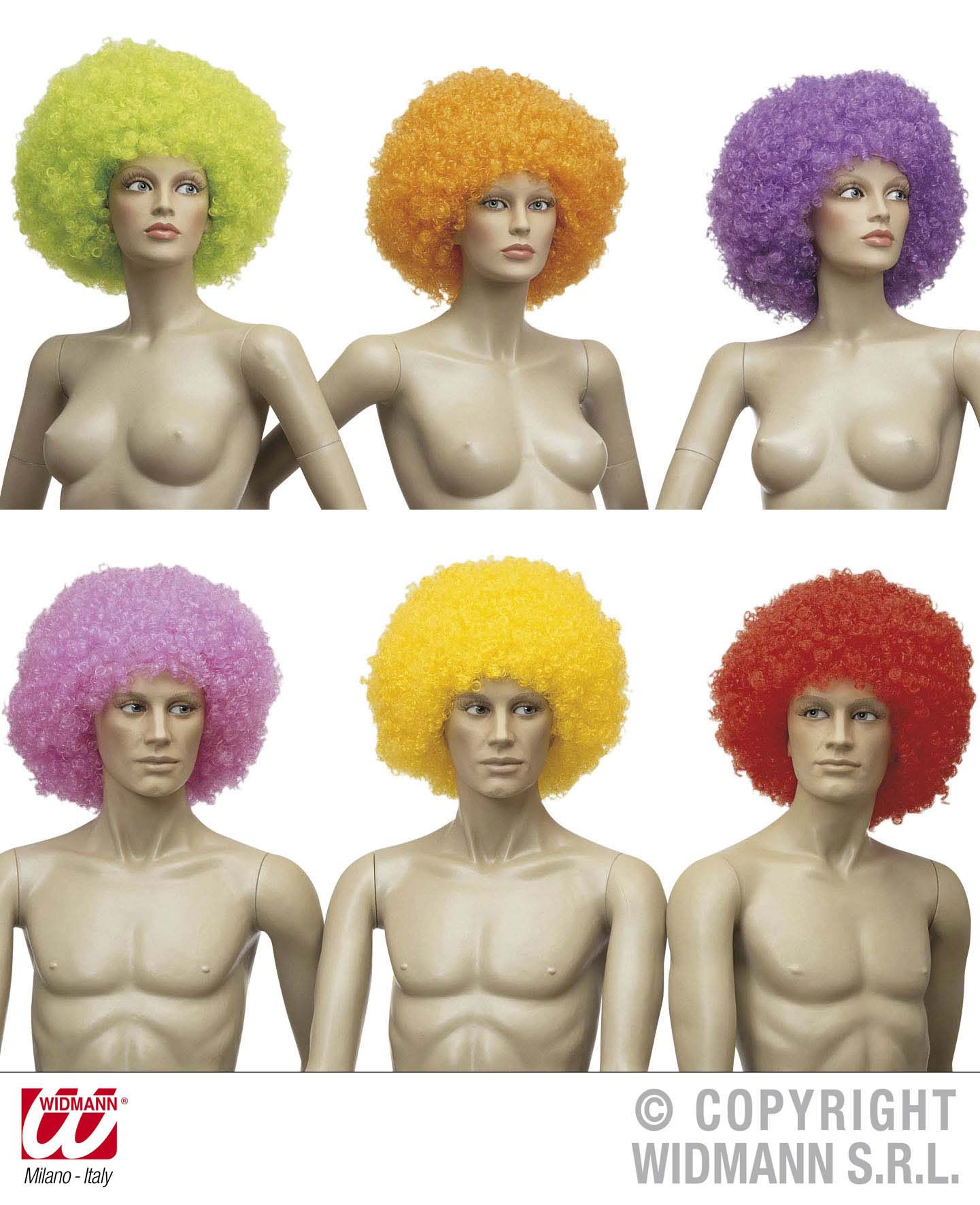 Jimmy Wig Oversized Yellowith Green/Purple Only Circus Fancy Dress