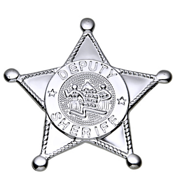 SILVER SHERIFF STAR