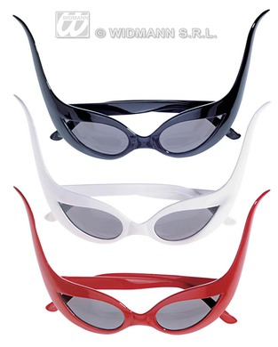 BAT GLASSES (black red or white)