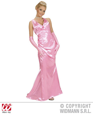 SATIN CELEBRITY PINK M (dress gloves)