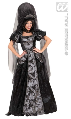 DARK QUEEN (dress w/hoop headpiece w/veil)
