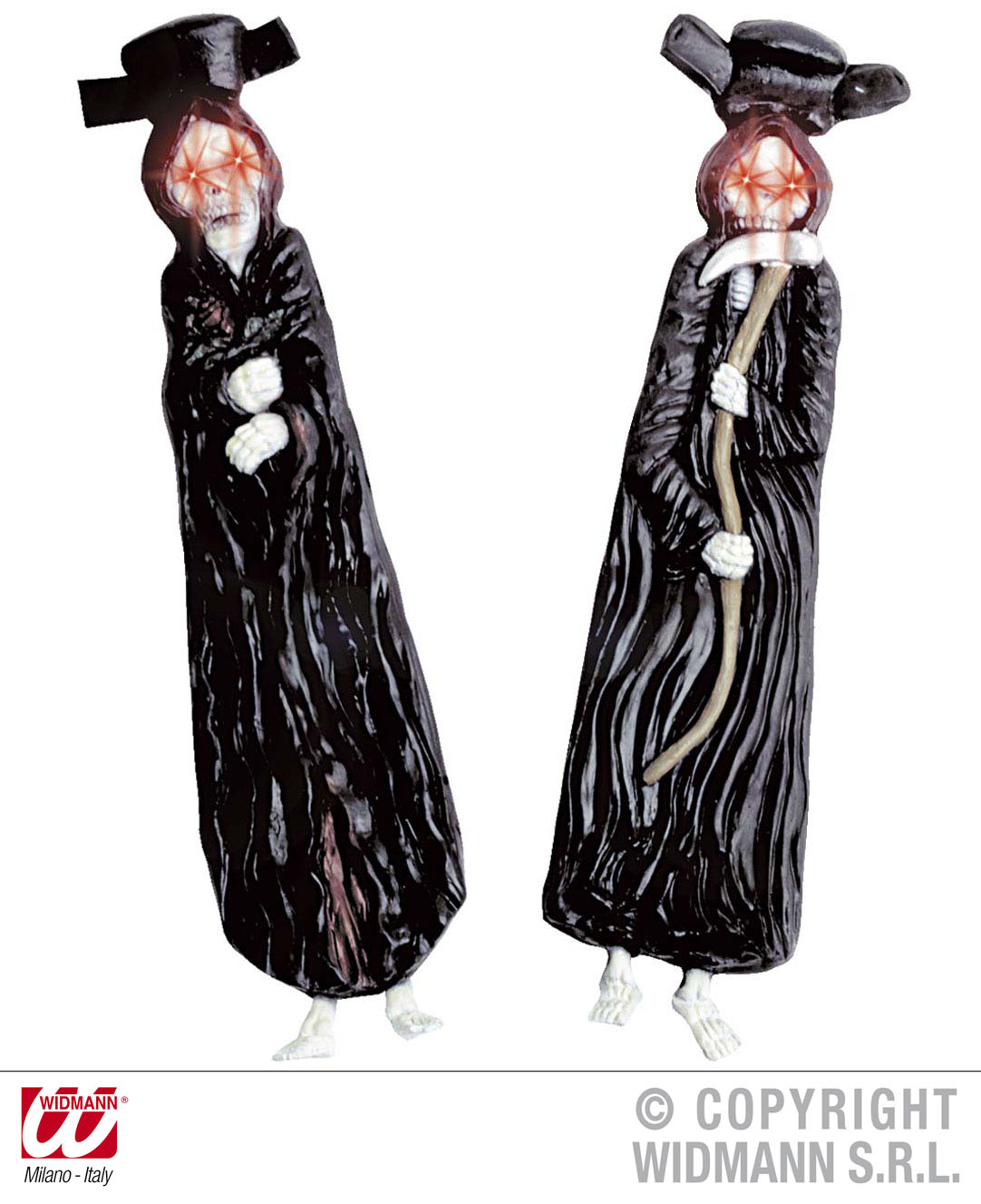 Skeleton Tie with Flashing Eyes Necktie Halloween Fancy Dress