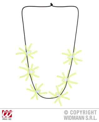 GLOW IN THE DARK SPIDERS NECKLACES 60cm