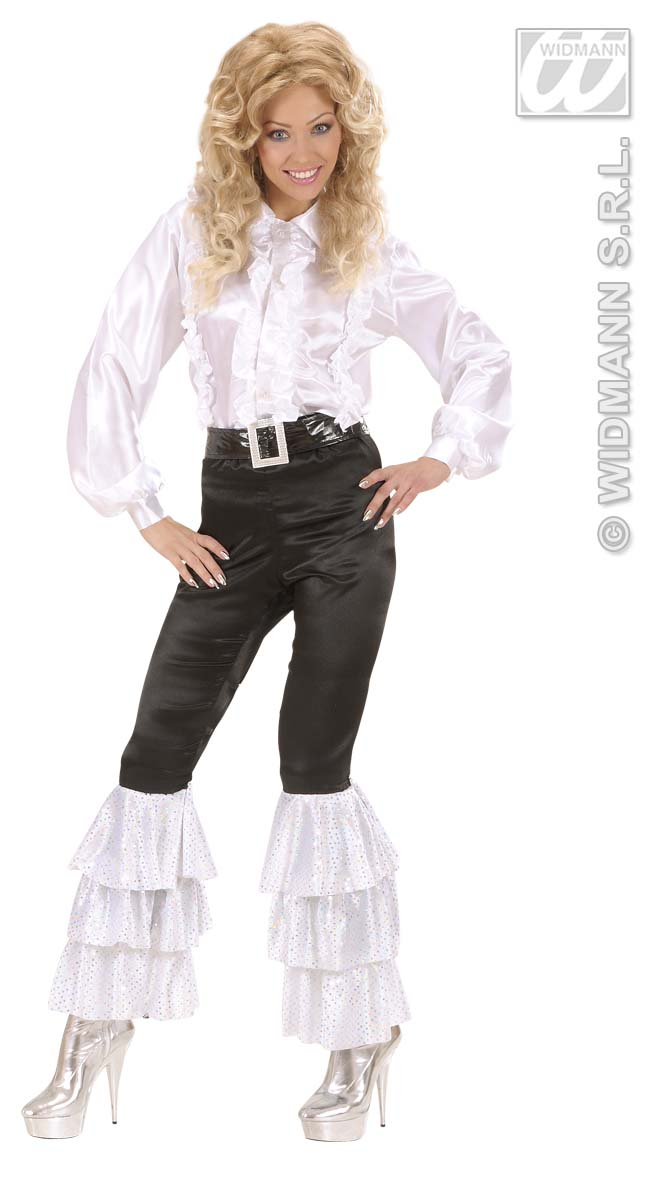 Black Satin Pants - Womans Trouser Pants Fancy Dress