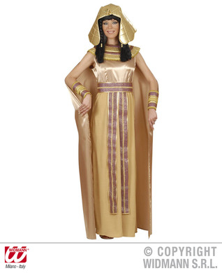 NEFERTITI DELUXE COSTUME (dress cape belt armbands hat)
