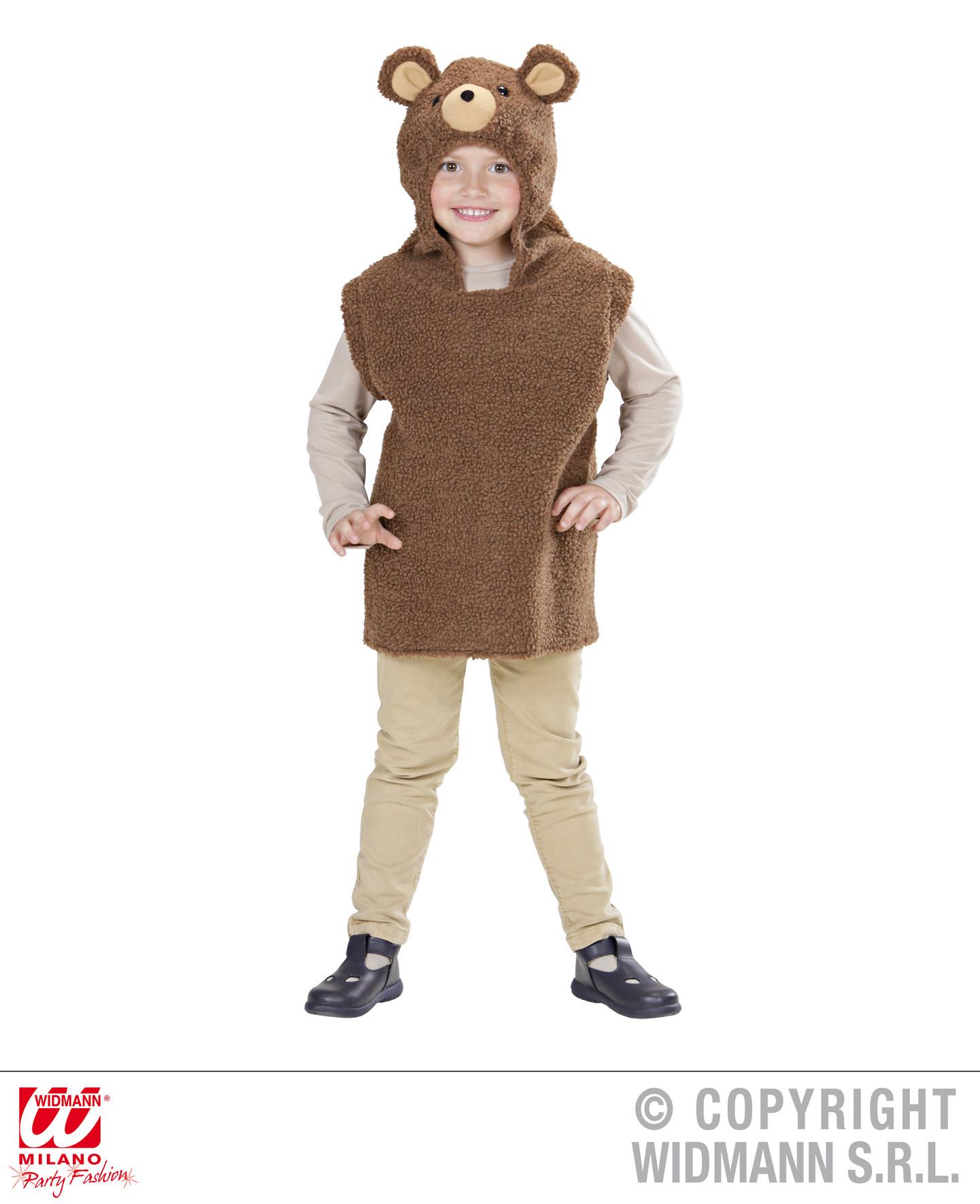 Toddler Teddy Bear Hooded Vest Costume Animal Fancy Dress
