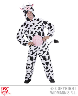 PLUSH COW (hooded jumpsuit with mask)