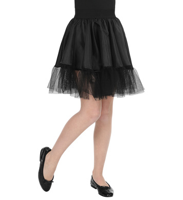 BLACK PETTICOAT SKIRT child size (1Size)