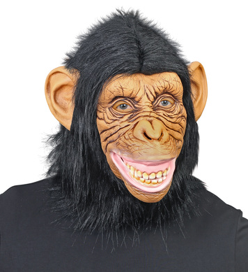 CHIMPANZEE MASK w/PLUSH FUR - BROWN
