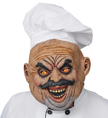 EVIL COOK FULL HEAD MASK WITH HAT
