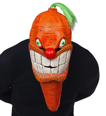 OVERSIZED CARROT FULL HEAD MASK