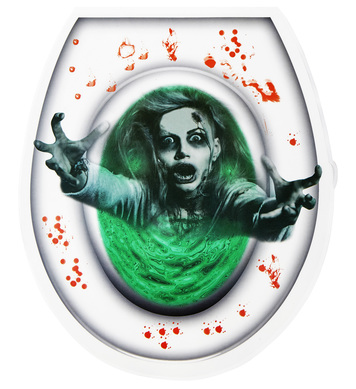 BLOODY ZOMBIE TOILET COVER