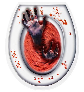 BLOODY ZOMBIE HANDS TOILET COVER