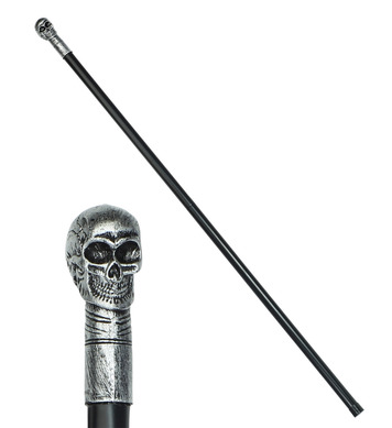 COLLAPSIBLE SKULL CANE 105cm