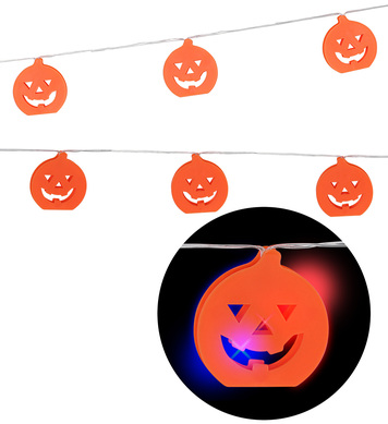 COLOR CHANGING PUMPKIN LIGHT CHAIN 2.5 m