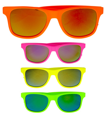 80s COLOURED GLASSES - 4 colours