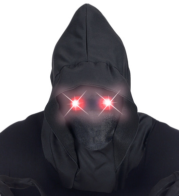 HOODED MASK w/ RED FADE-IN FADE-OUT LIGHT-UP EYES
