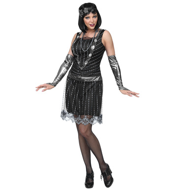 HOLOGRAPHIC FLAPPER (dress, arm warmers, headpiece)