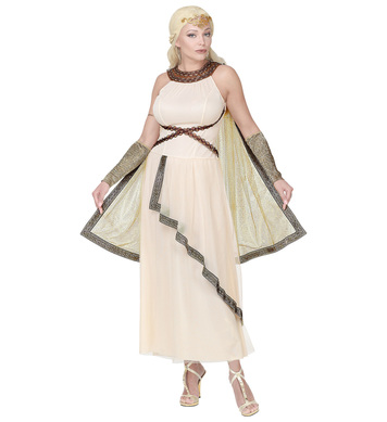 GREEK ROMAN GODDESS (dress w/cape, arm warmers,h/piece)