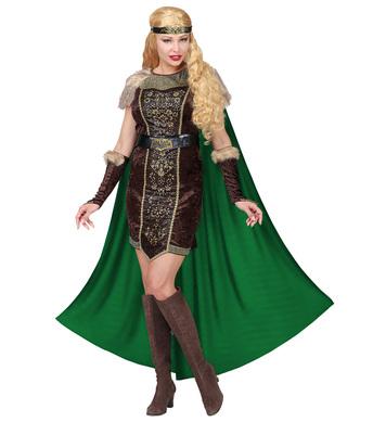 LADY VIKING (dress w/cape, belt, arm warmers, headband)