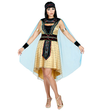 EGYPTIAN EMPRESS (dress w/ cape, bracelets, headband)