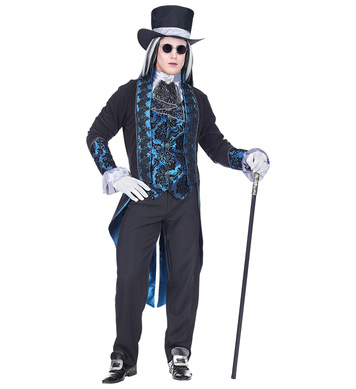 VICTORIAN VAMPIRE MAN -BLUE/BLACK