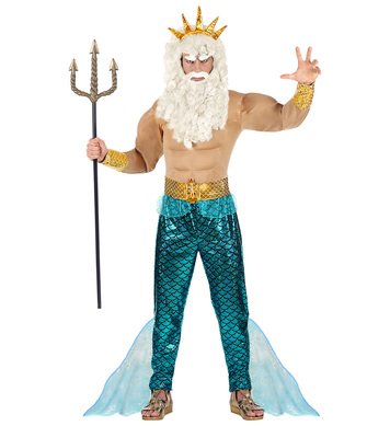 POSEIDON (muscle shirt, pants, belt, cuffs, crown)