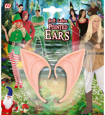 PAIR SOFT LATEX POINTED EARS (for Elf,Fairy,Witch,Devil,etc)