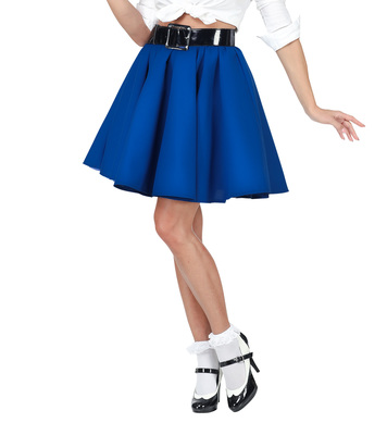 50s ROCK N ROLL SKIRT - BLUE
