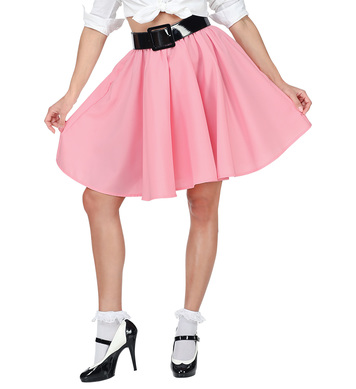 50s ROCK N ROLL SKIRT - PINK
