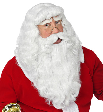 DELUXE SANTA CLAUS WIG w/ BEARD & MOUSTACHE (in box)