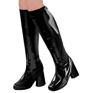 60s GO GO BOOT TOPS - BLACK