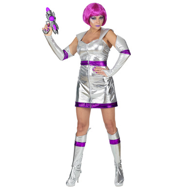 SPACE GIRL (dress, fingerless gloves, boot covers)