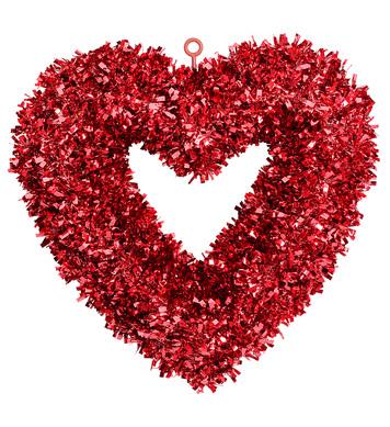 ST. VALENTINE'S DAY TINSEL HEART 46x44cm