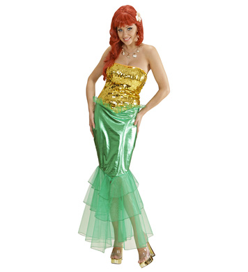 MERMAID - GOLD/GREEN (dress)
