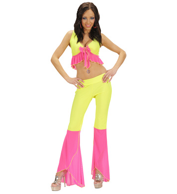 SAMBA TOP & PANTS NEON YELLOW & PINK