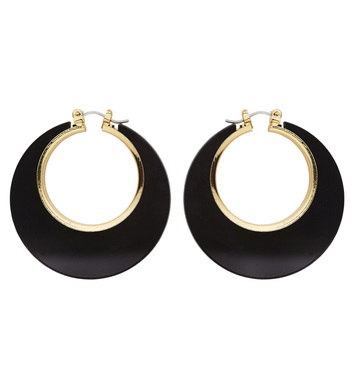 BLACK & GOLD DISCO EARRINGS