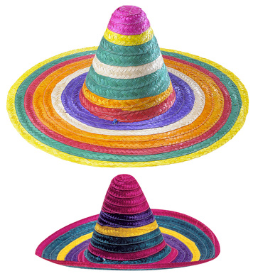 MULTICOLOUR SOMBRERO 50cm - 2 colours