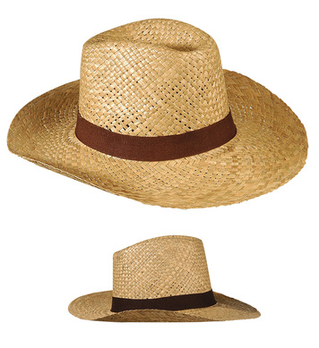 STRAW TEXAS HAT W/BAND