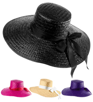 MAYFAIR LADY STRAW HAT - 4 colours