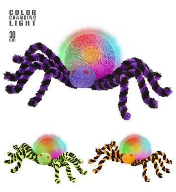 COLOUR CHANGE LIGHT SPIDER 30cm -3 colour options