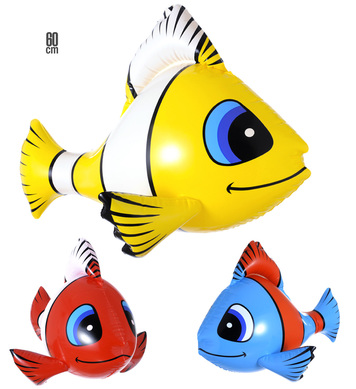 INFLATABLE TROPICAL FISH 60cm - 3 colours