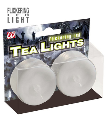 LIGHT UP TEALIGHT CANDLES WHITE
