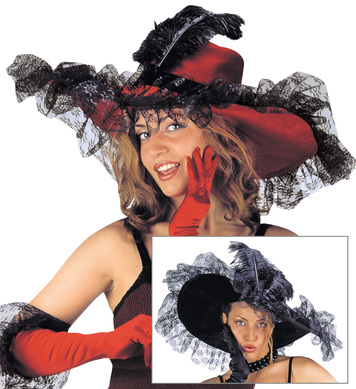 LACE DECORATED HAT/GLOVE SET