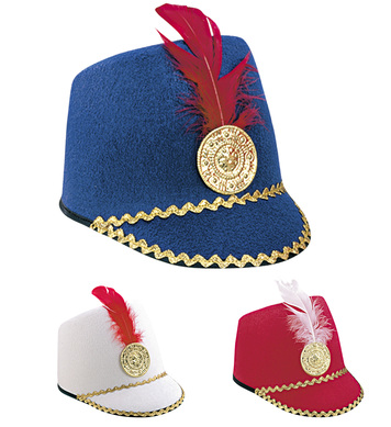 MAJORETTE HAT - CHILD SIZE - RED,WHITE OR BLUE